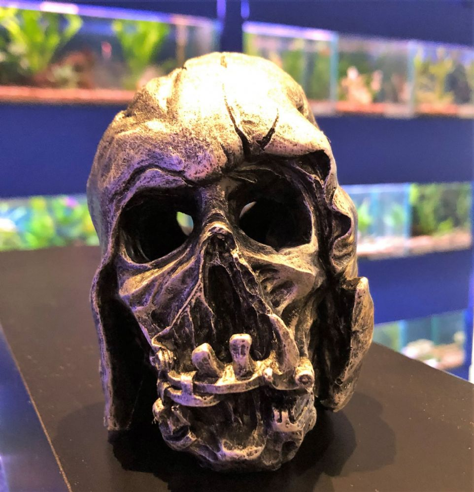 Space Theme Evil Relic Mask Aquarium Fish Tank Ornament